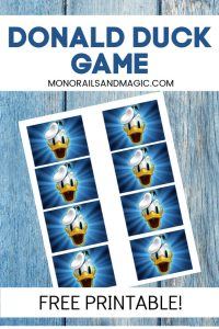 Free Printable Donald Duck Game for Kids
