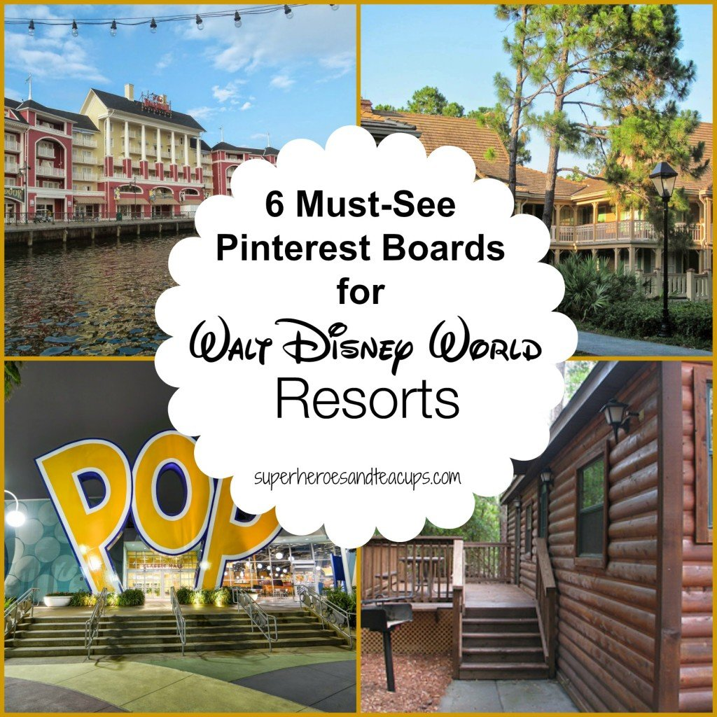 6 Must-See Pinterest Boards for Walt Disney World Resorts