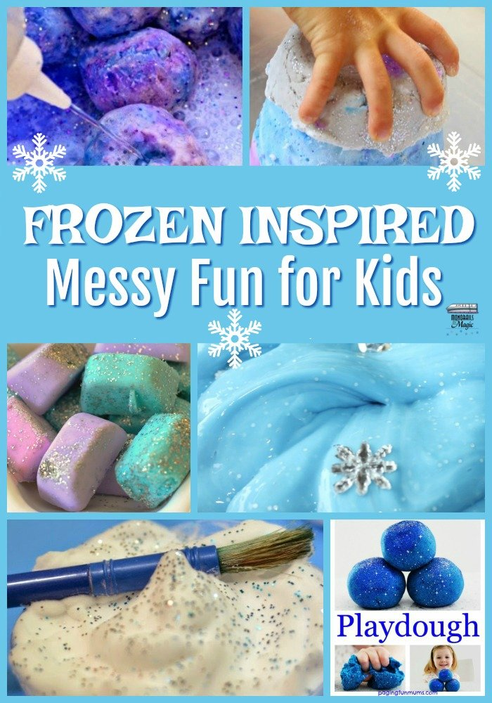 Frozen Inspired Messy Fun