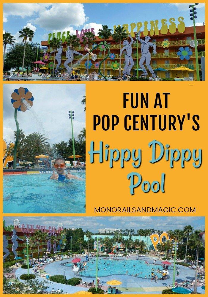 Fun at Pop Century's Hippy Dippy Pool