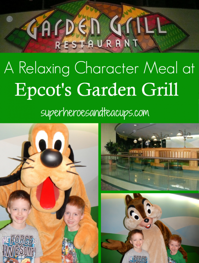 Relaxing Character Meal at Epcot's Garden Grill