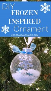 Easy DIY Frozen Inspired Ornament