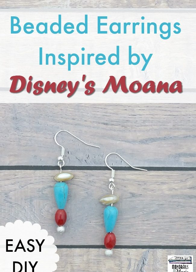 Easy DIY Beaded Earrings Inspired by Disney's Moana