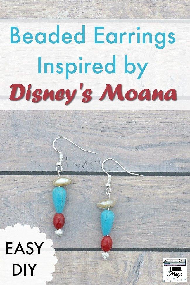 Easy Diy Beaded Earrings Inspired By Disney S Moana