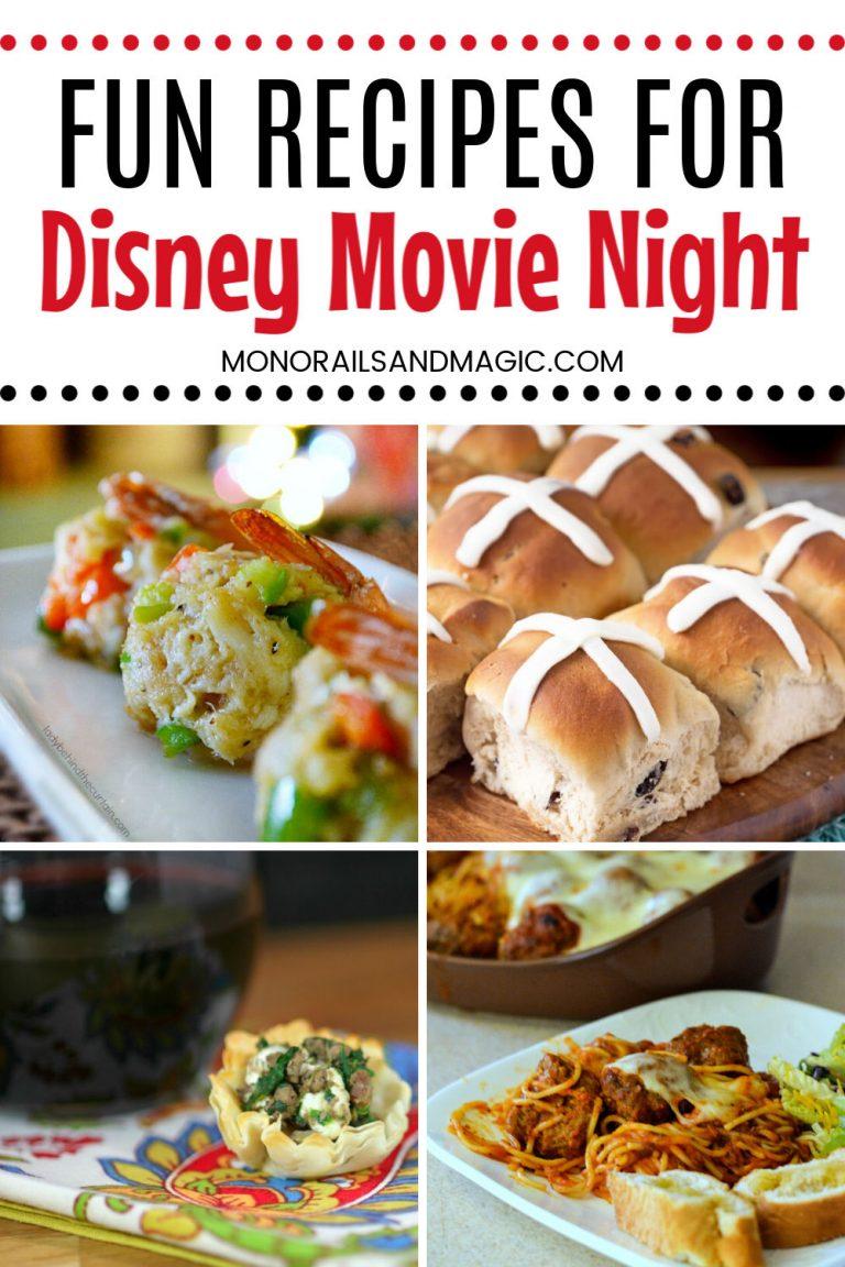 12 Movie Recipe Combos for Disney Movie Night