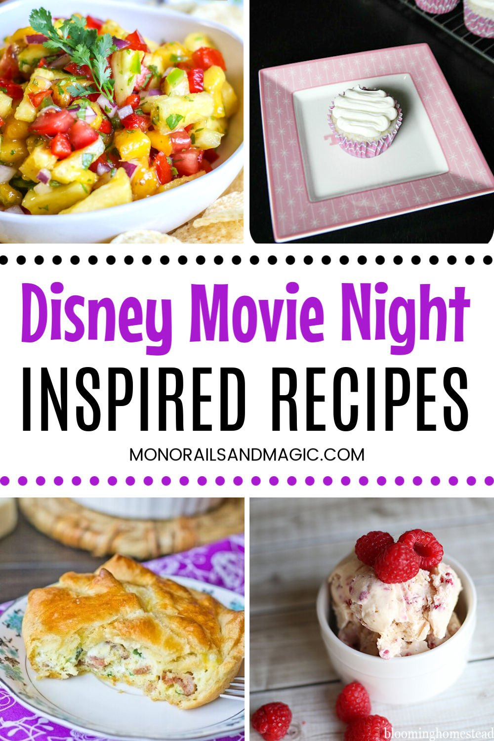 Disney inspired recipes for your family movie night.