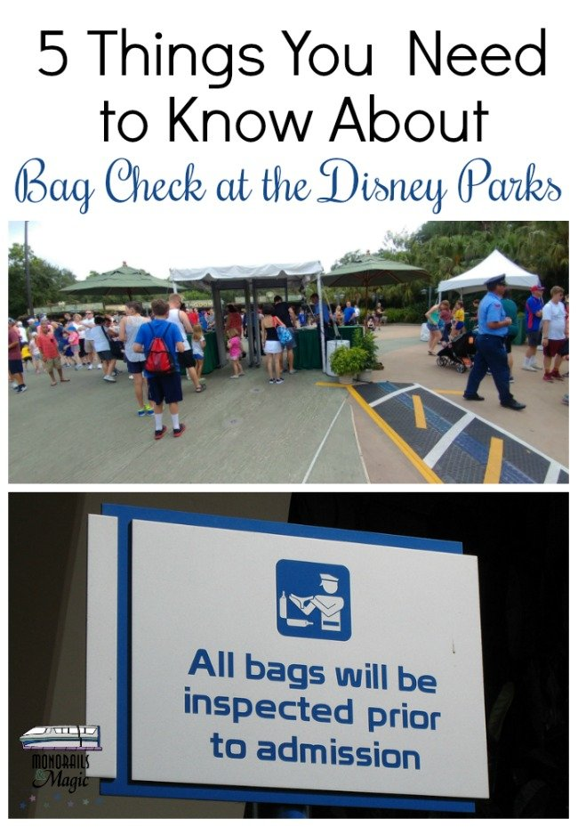 Bag Check at the Disney Parks