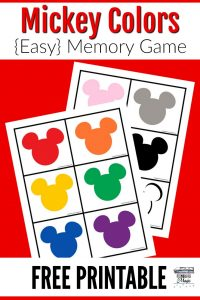 Mickey Colors Memory Game