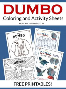 Dumbo Coloring and Activity Sheets Free Printables