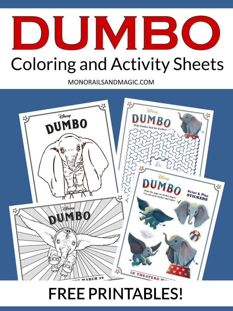 Dumbo Coloring and Activity Sheets Free Printable