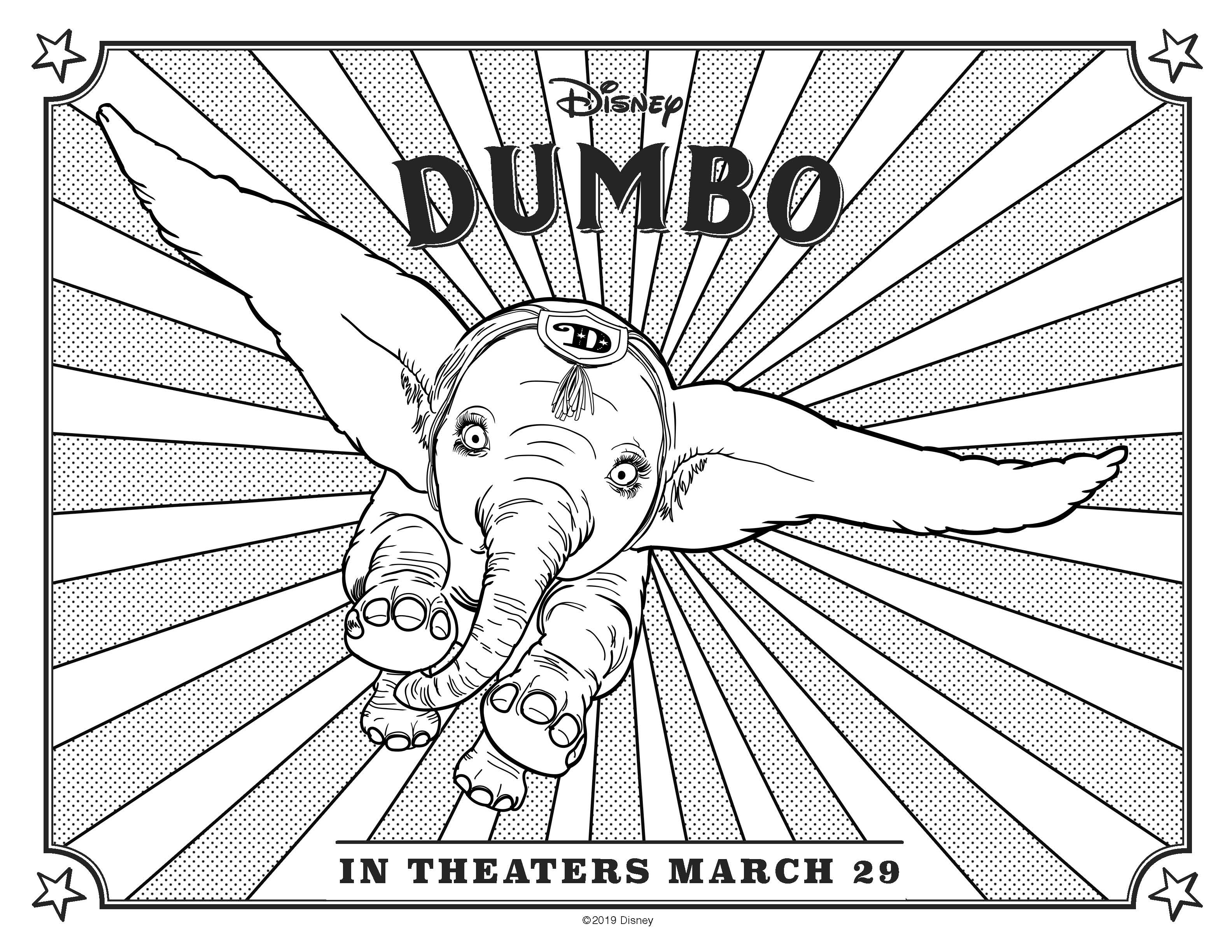 Dumbo Coloring and Activity Sheets