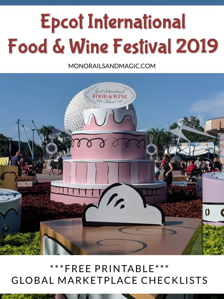 Epcot International Food and Wine Festival 2019 Checklist
