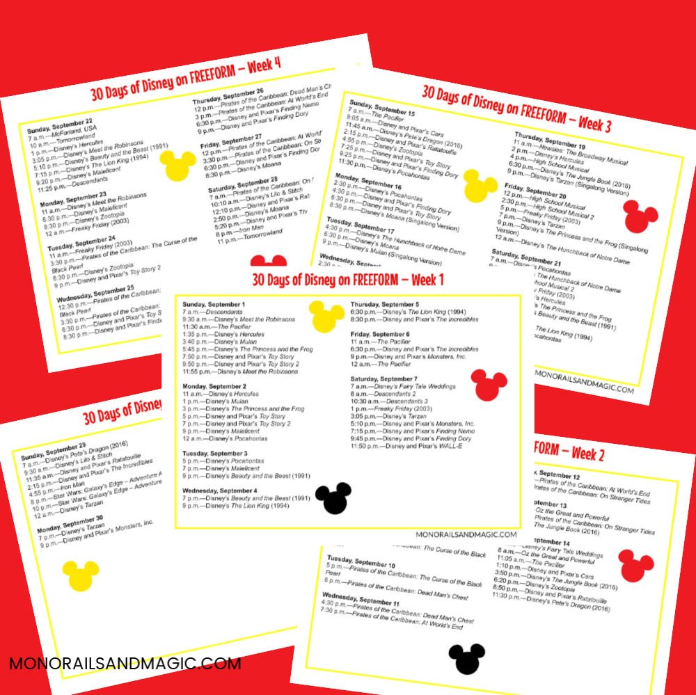 30 Days of Disney Printables