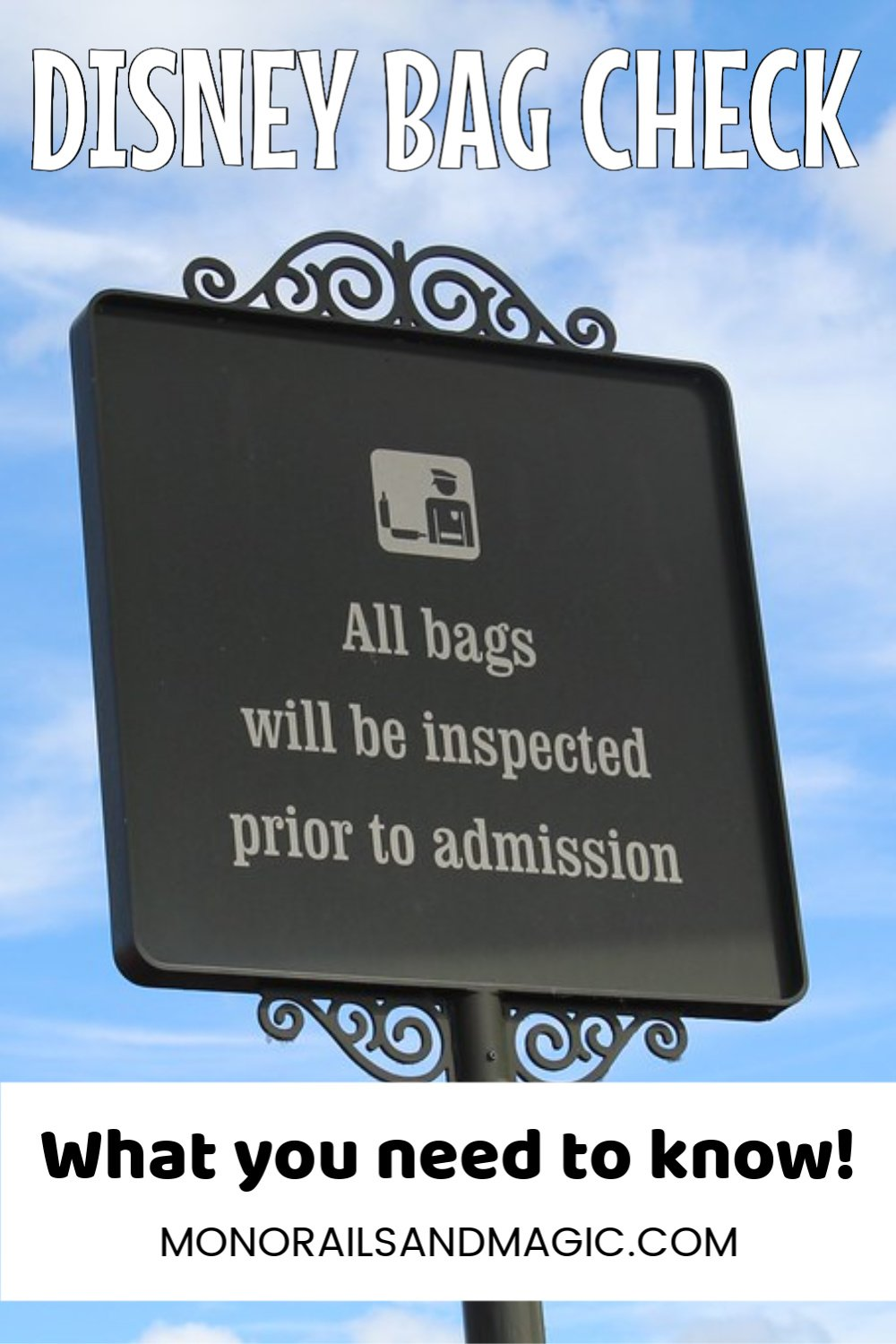 5 Tips for Bag Check at the Disney Parks