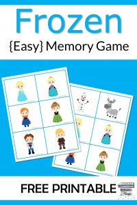 Frozen Memory Game Free Printable