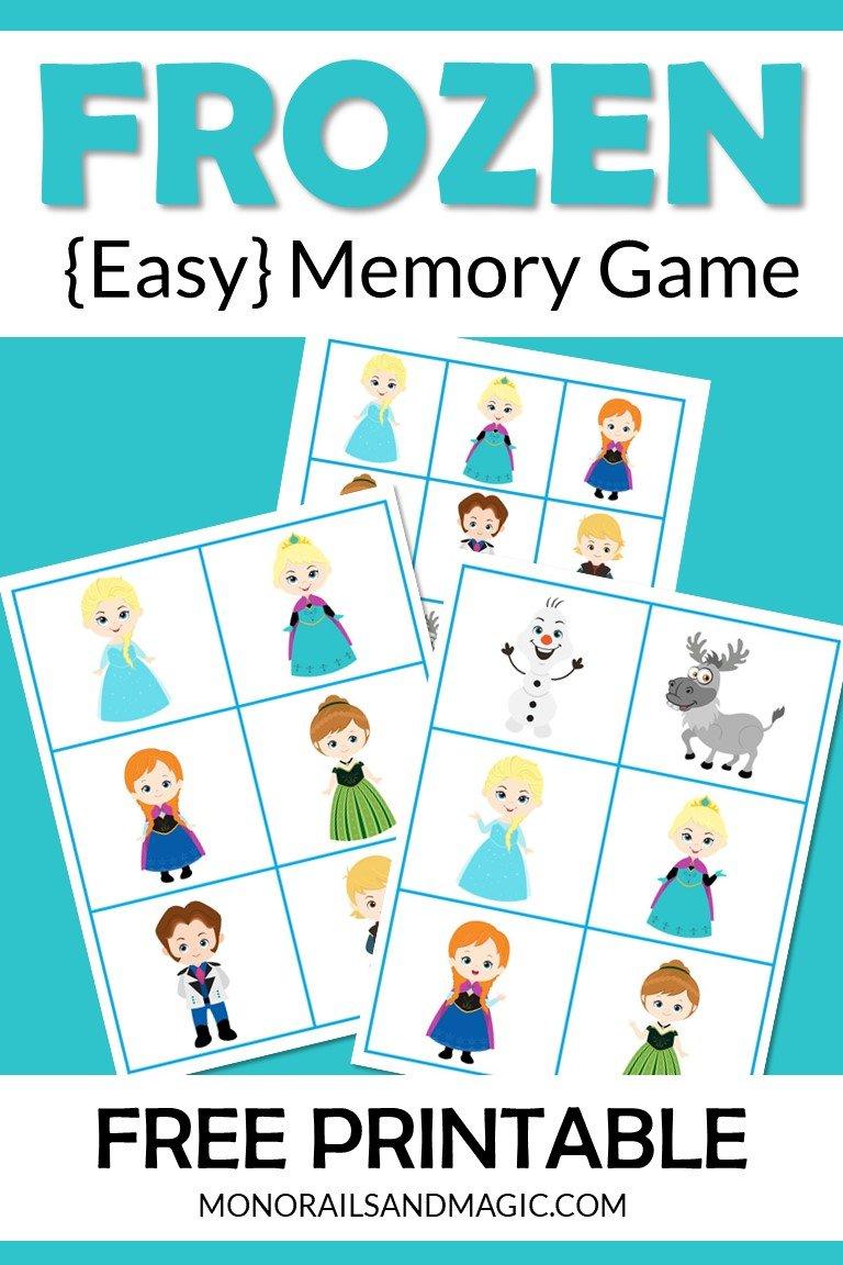 Frozen Memory Game Free Printable
