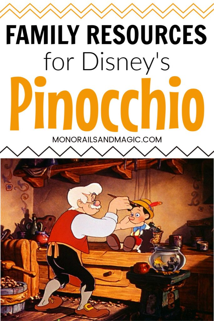 Family Resources for Disney's Pinocchio