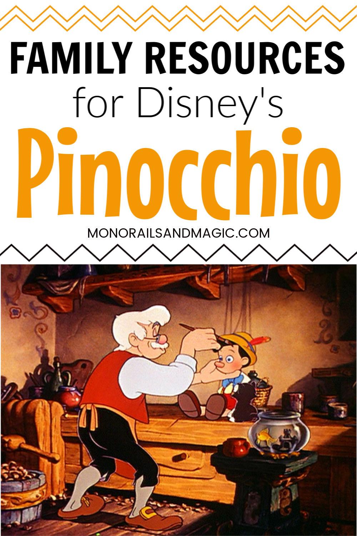 Family Resources for Disney's Pinocchio