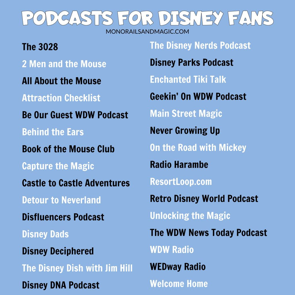 Podcasts for Disney Fans