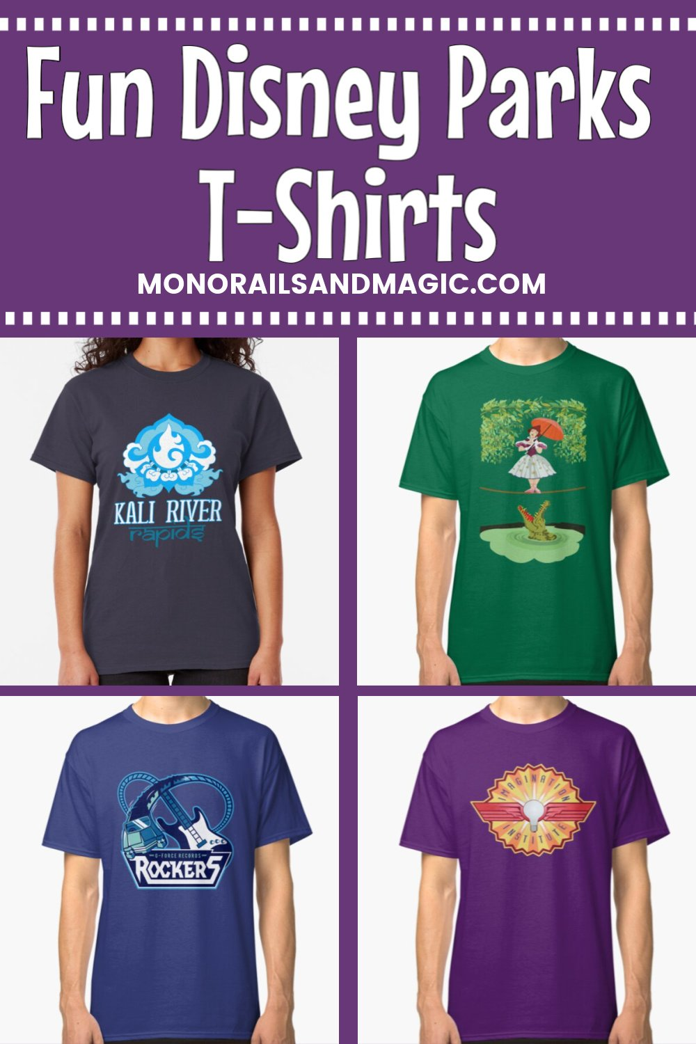 Disney Parks themed t-shirts from Redbubble