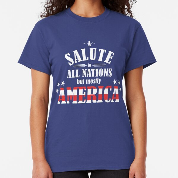 Salute to All Nations T-Shirt on Redbubble