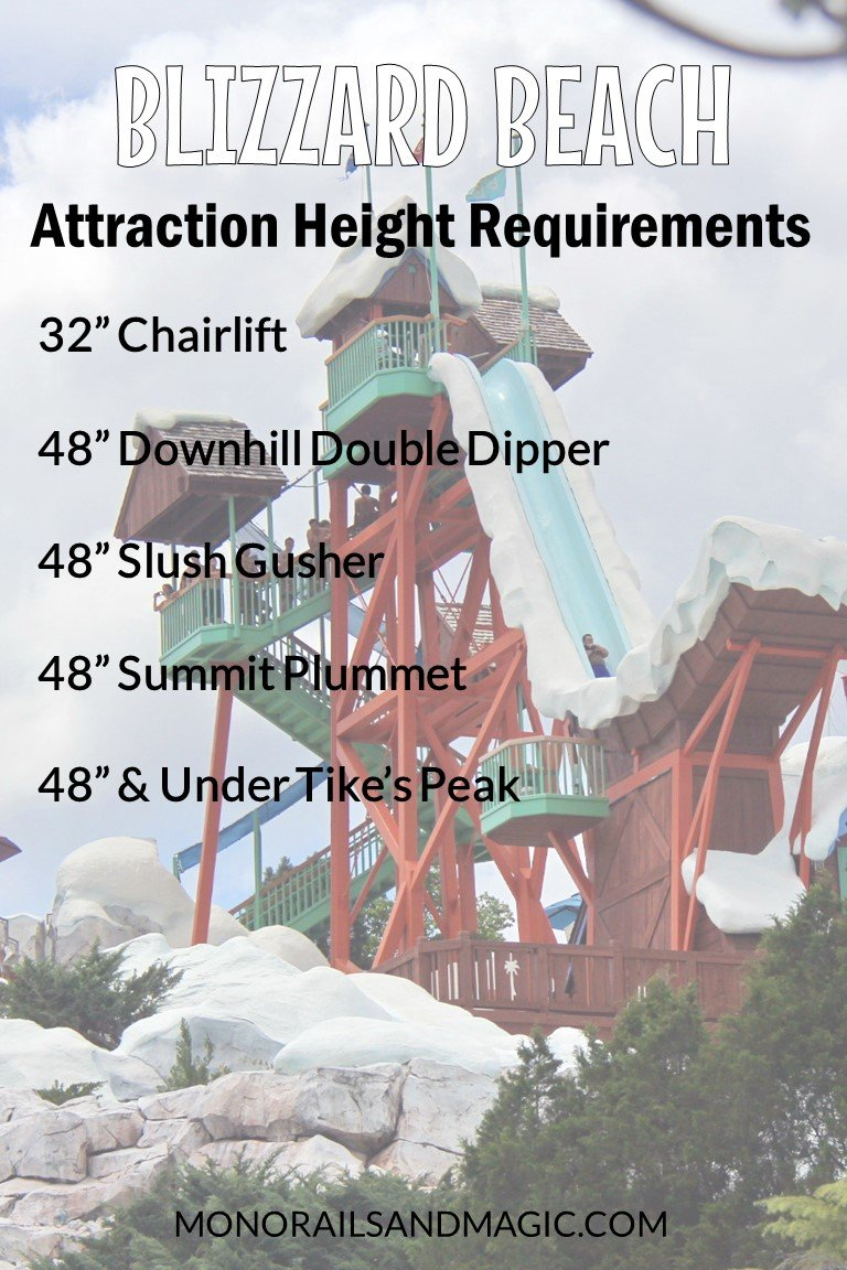 Height Requirements for Disney's Blizzard Beach
