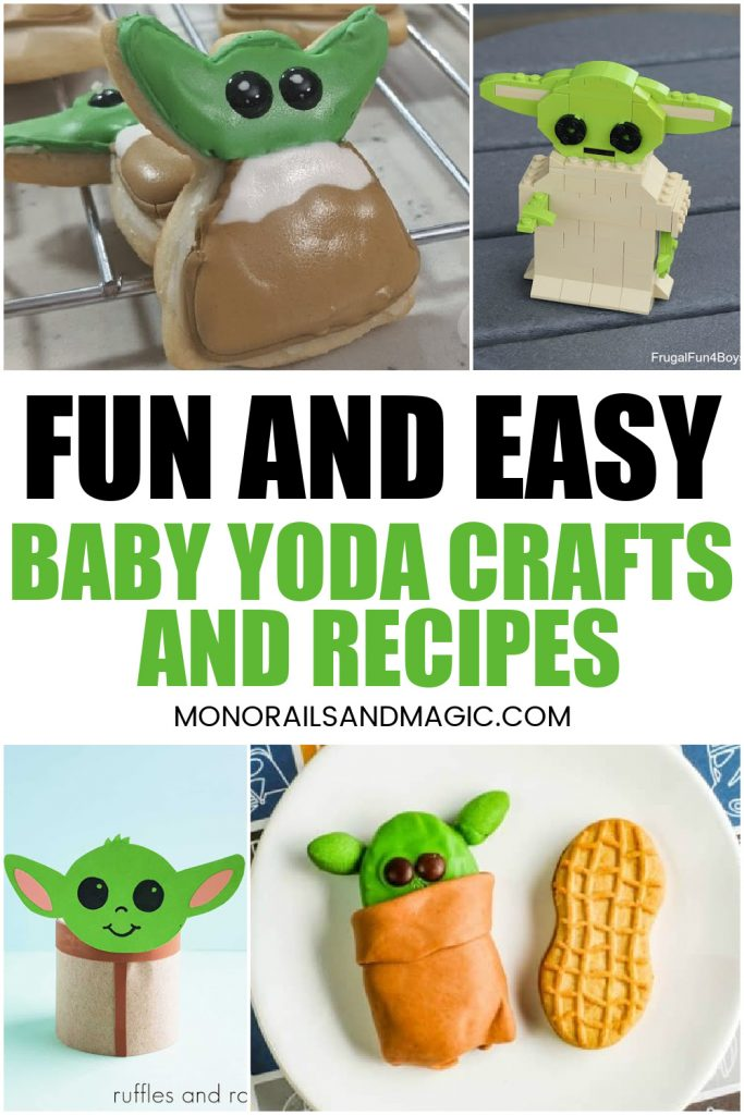 Fun and easy Baby Yoda themed crafts and recipes.