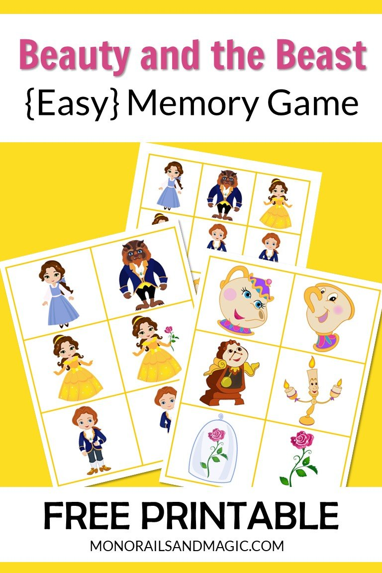 Beauty and the Beast Memory Game