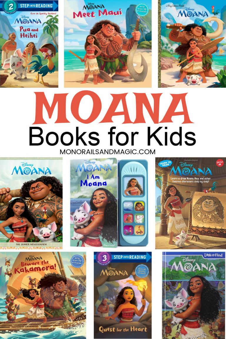 Disney Moana books for kids of all ages