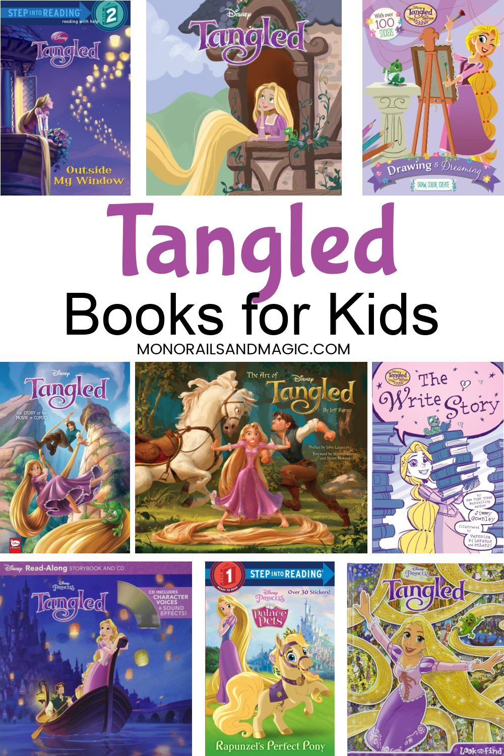 Disney Tangled books for kids of all ages.