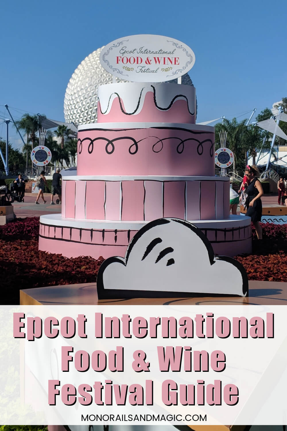 Epcot International Food and Wine Festival display.