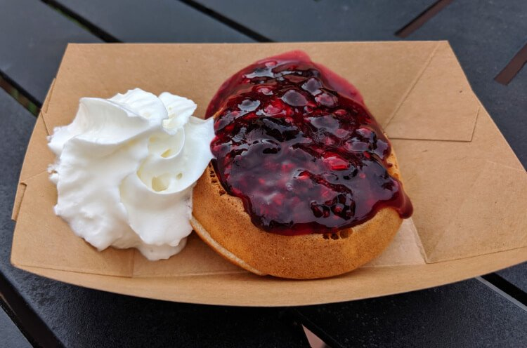 Example of food from the Belgium Global Marketplace and the Epcot Food and Wine Festival.