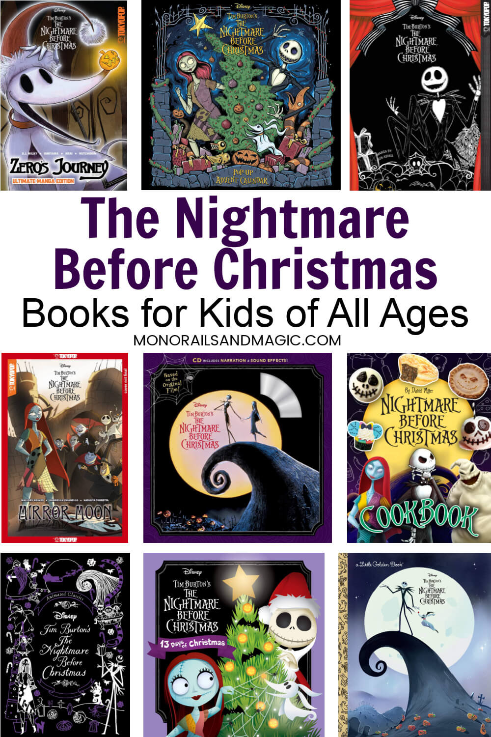 Tons of fun The Nightmare Before Christmas books for kids of all ages. Great for fans of this Disney cult classic.